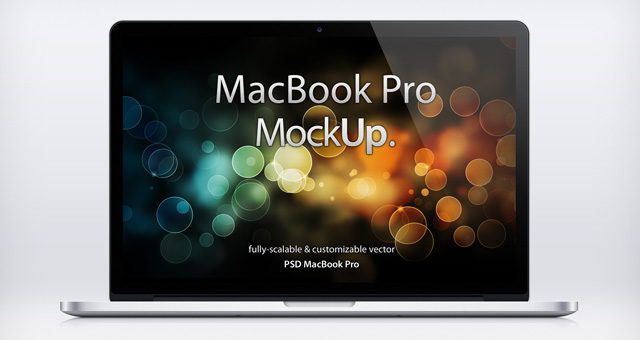MacBook Pro Retina Psd Mockup  Psd Mock Up Templates  Pixeden