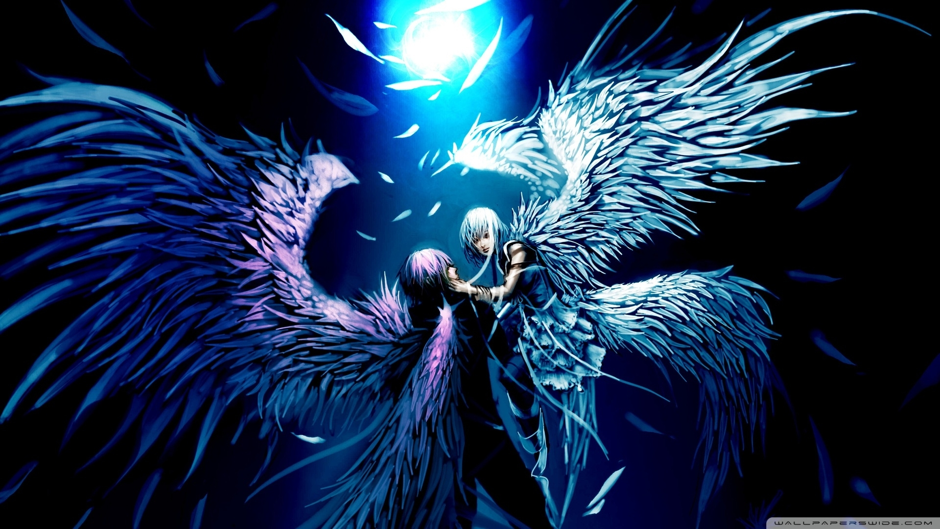 two angels love anime e29da4 4k hd desktop wallpaper for 4k ultra hd tv