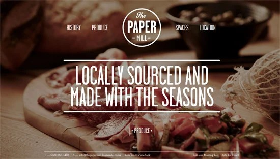 Photo background example: The Papermill
