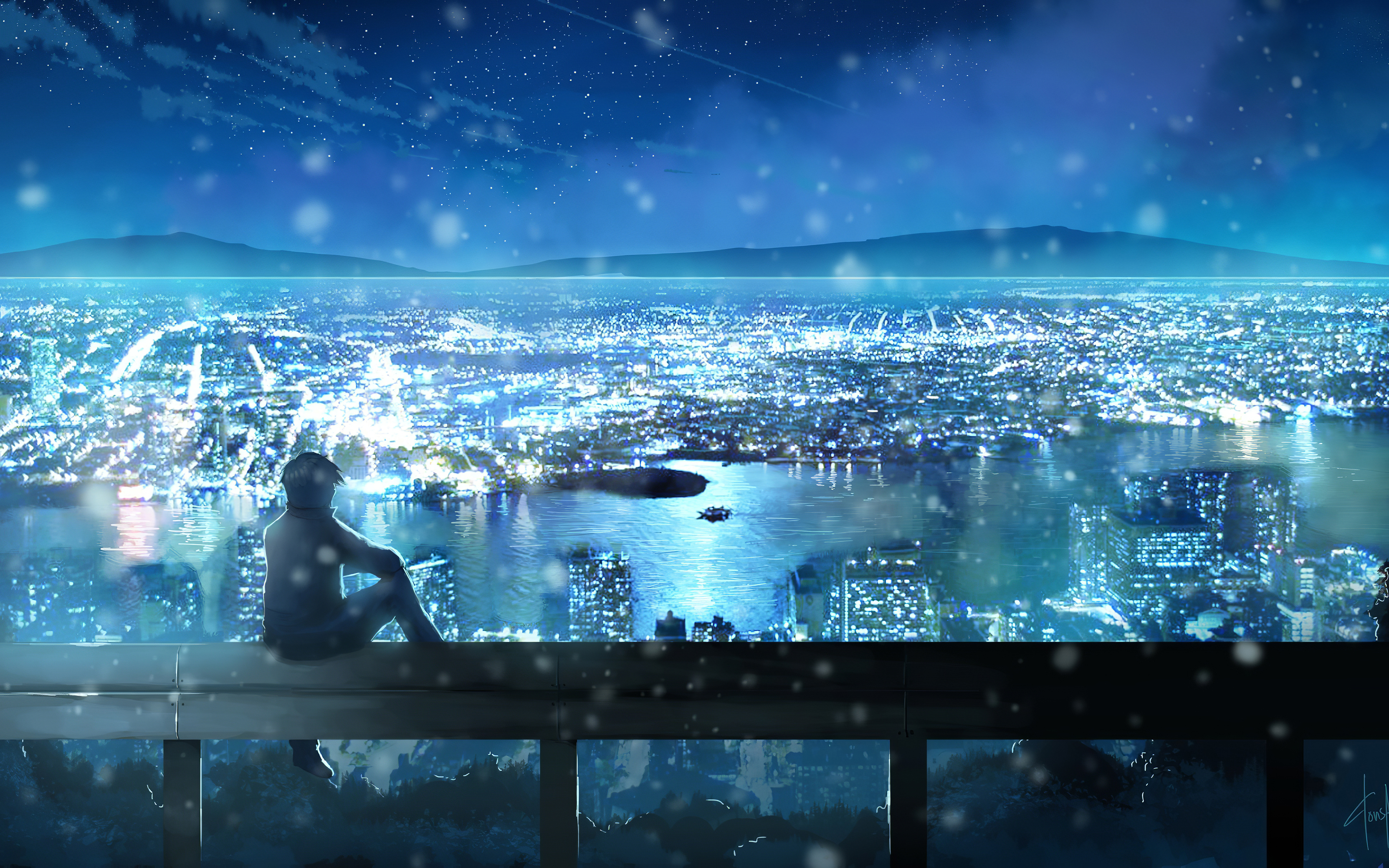 Download and install anime wallpaper 4k premium apk on android. City Looks Nice From Here Anime