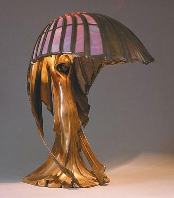 Peter Behrens Art Nouveau Lamp