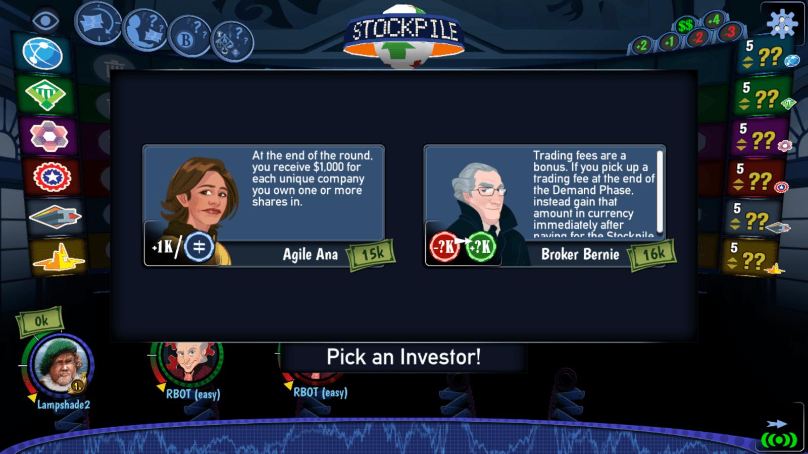 stockpile - investor