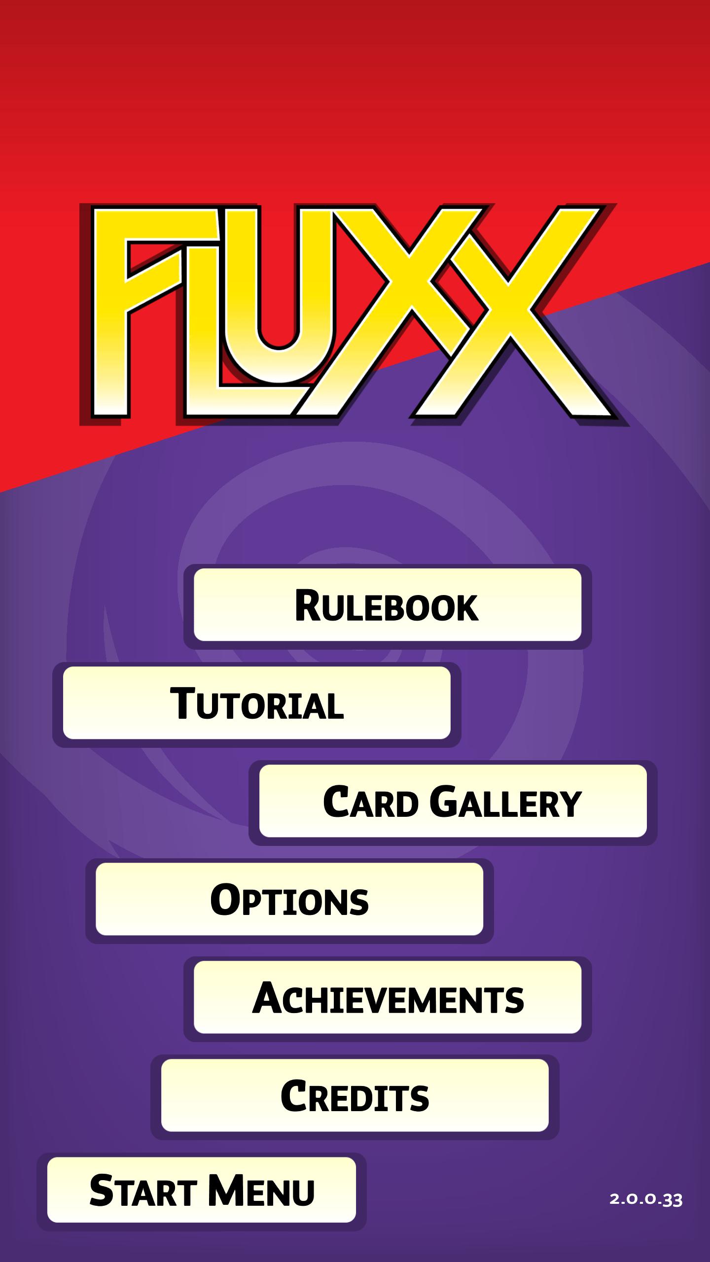 fluxx - menu