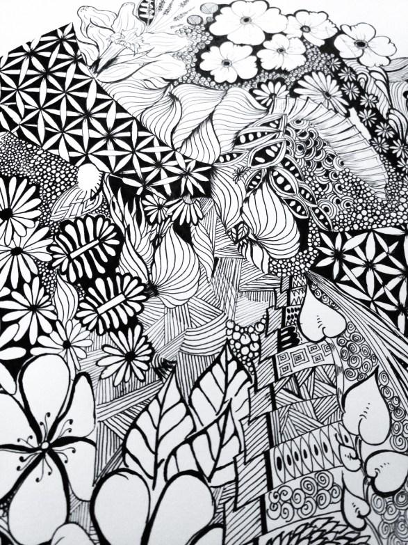 zentangle inspired artworks