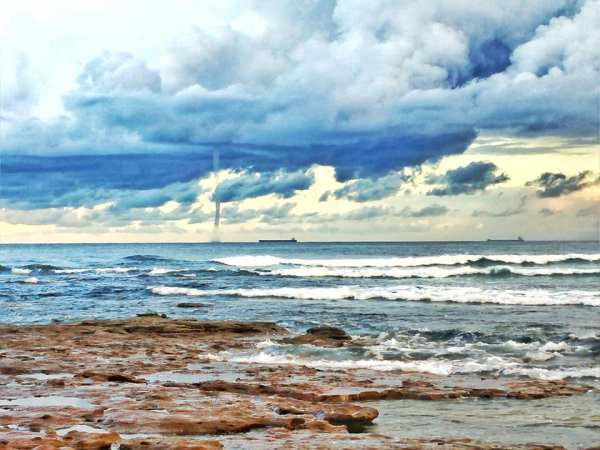 rare waterspout in australia