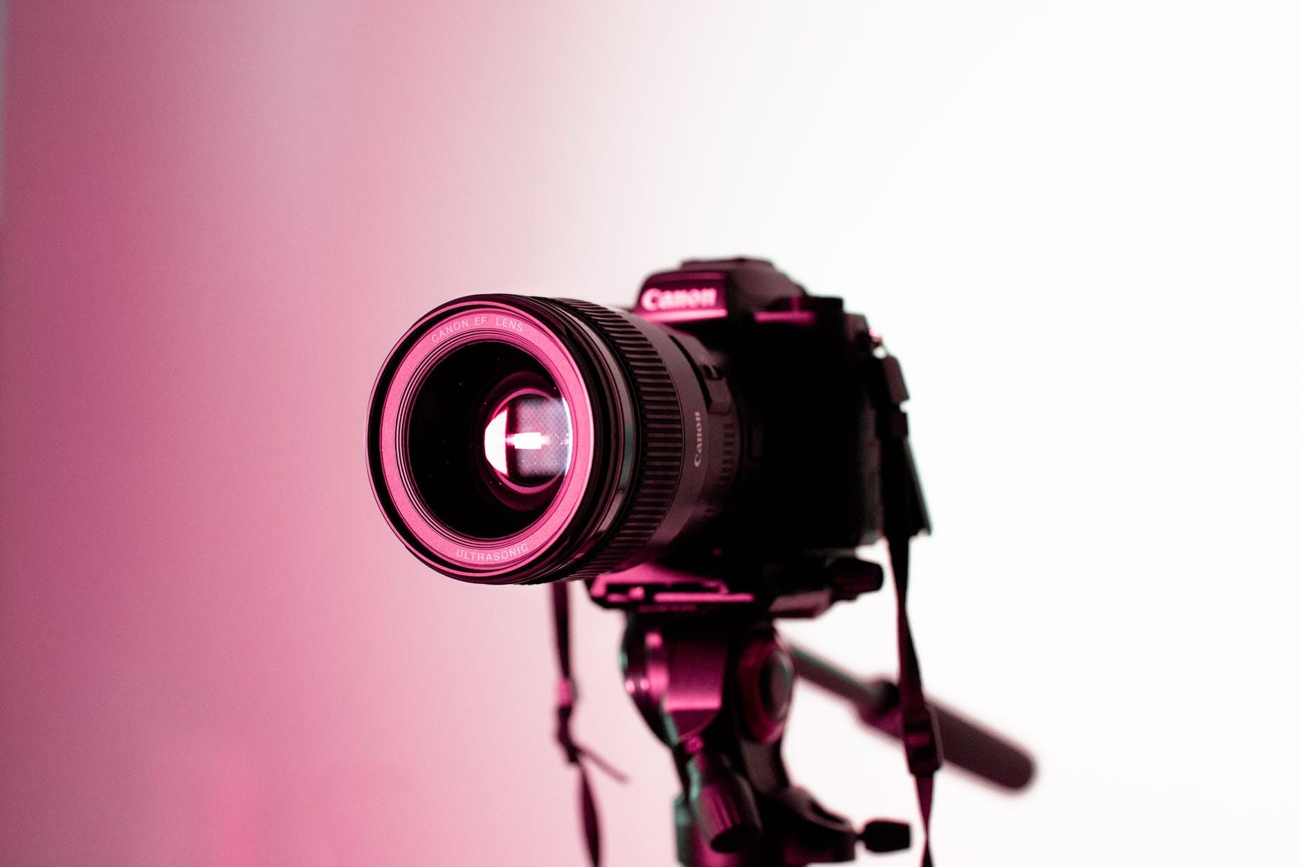 close up photo of dslr camera