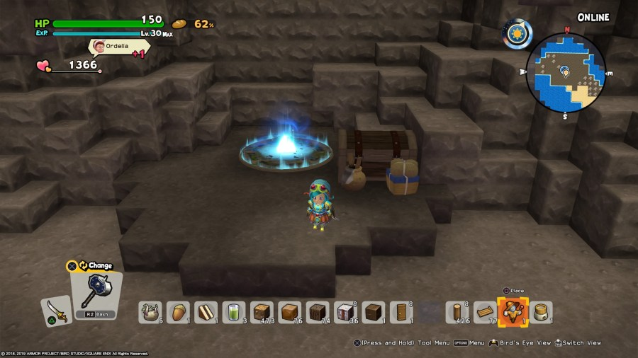 modo cooperativo en Dragon Quest Builders 2