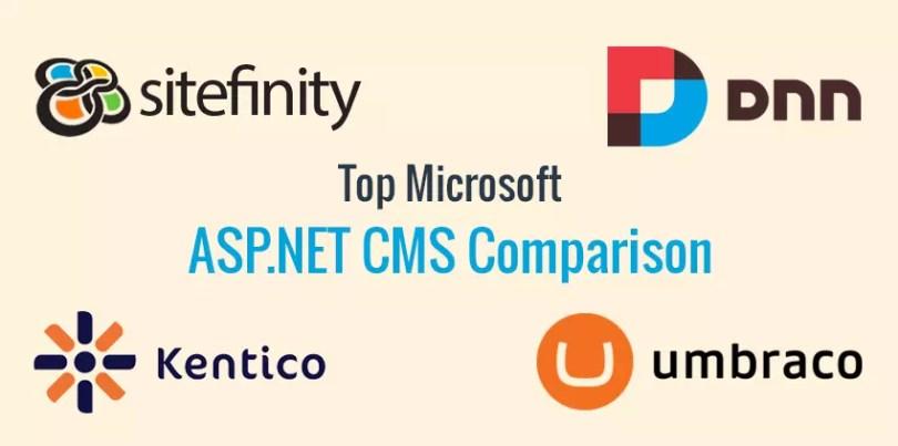 Top Microsoft ASP NET CMS Comparison