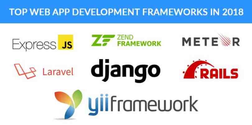 Top Web App Development Frameworks In 2018