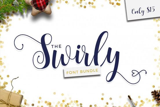 swirly font bundle