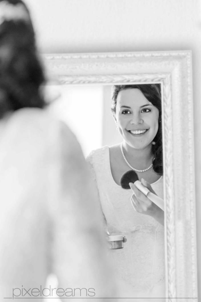 Spiegel, Rahmen, Barock, Braut, Styling, Brautstyling, Lächeln