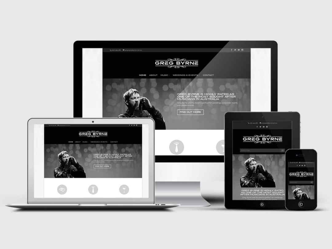 Greg Byrne gets a funky new website