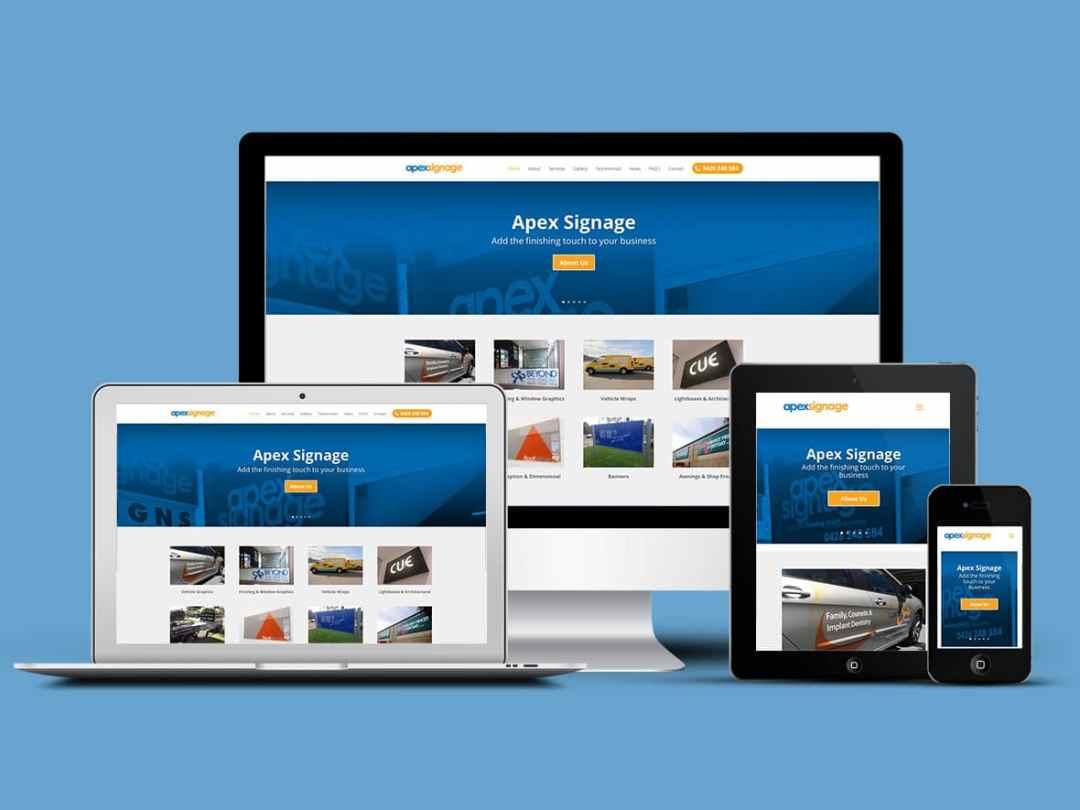 Apex Signage installs new website