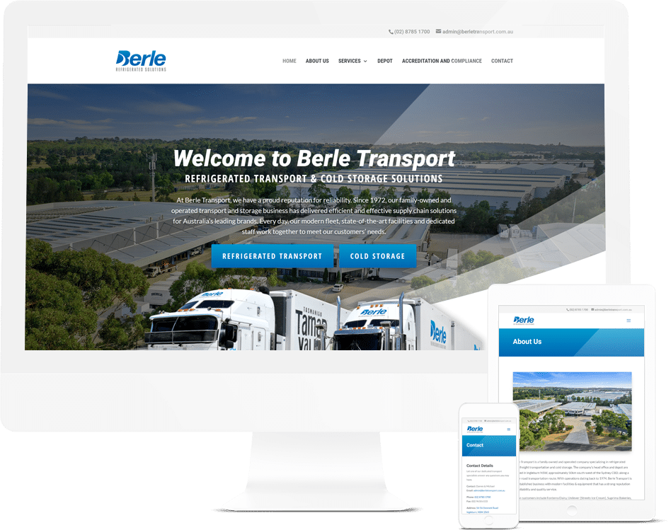 Manufacturing, Logistics and Industrial Website Design