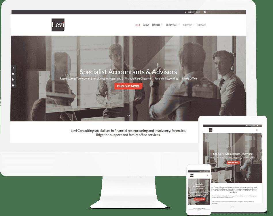 Business Advisory Website Design