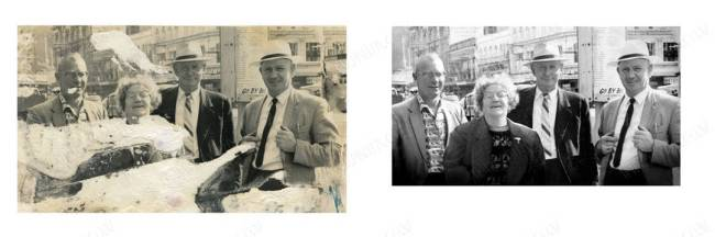 Heavy Photo Restoration completed by Auckland's favorite photo restoration service.