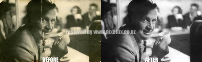 Photo Restoration - black and white