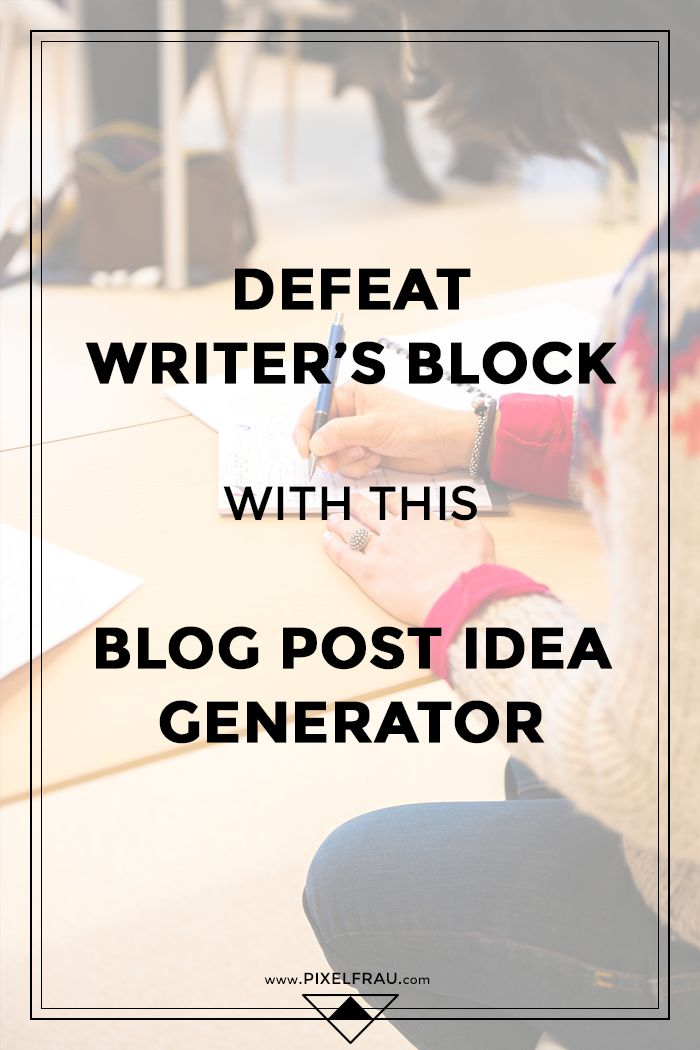 blog post ideas generator