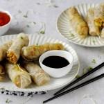 Involtini Primavera Cinesi con Salsa Agrodolce