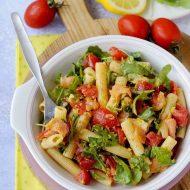 Pasta Fredda con Salmone, Rucola e Pomodorini