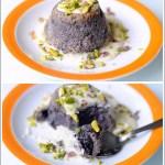 Sformatini di Carote Viola con Crema di Parmigiano e Granella di Pistacchi
