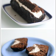 Cake Scomposto al Cioccolato Ripieno di Yogurt ai Fiori d'Arancio