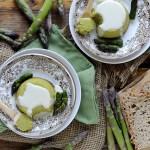 Sformatini di Asparagi con Fonduta di Parmigiano