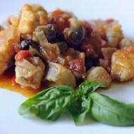 Coda di Rospo (Rana Pescatrice) con Pomodori e Olive