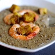 Passatina di Roveja con Mazzancolle e Crostini di Pane al Curry
