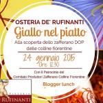 Giallo nel Piatto, Blogger Lunch all'Osteria de'Rufinanti di Pontassieve (FI)