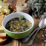 Zuppa di Cicerchie, Porcini e Borragine