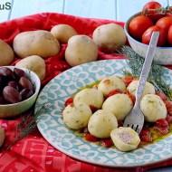 Gnocchi Ripieni Greek Style (con Feta, Olive Kalamata e Dadolata di Pomodorini all'Aneto)