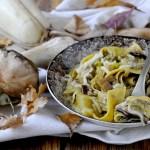 Pappardelle con Funghi Porcini, Porri e Provola
