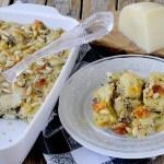 Gratin di Cardi con Olive Taggiasche, Pinoli e Caciocavallo Silano