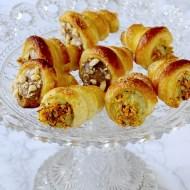 Cannoncini di Pasta Sfoglia Ripieni di Crema al Cioccolato e Caffè e Crema al Pistacchio e Arancia
