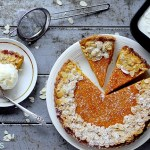 Carrot, Ginger and White Chocolate Pie con Gelato al Whisky
