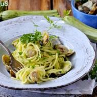Spaghetti alle Vongole con Crema di Zucchine
