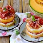 Torrette di Melone, Capocollo e Mozzarella