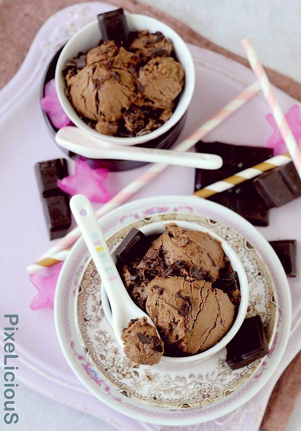 "gelato ""furbo"" al cioccolato fondente"