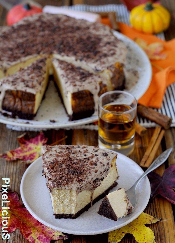New York Cheesecake alla Zucca con Salsa al Rhum e Cannella