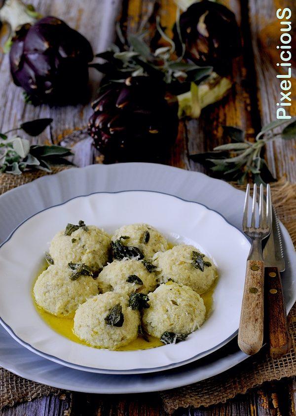 Gnudi di Carciofi con Burro e Salvia