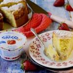 Torta Nua con Crema di Yogurt Greco alla Fragola