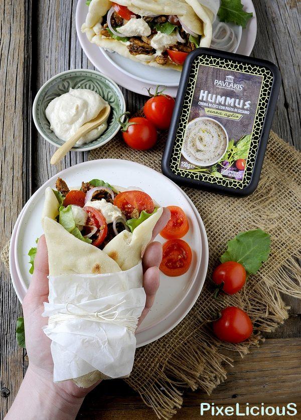 Pita Gyros Greca con Hummus