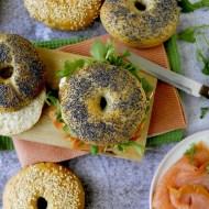 Bagels con Salmone, Formaggio Cremoso e Rucola