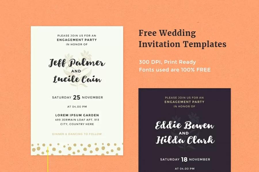 Free Wedding Invitation Templates  Pixelo