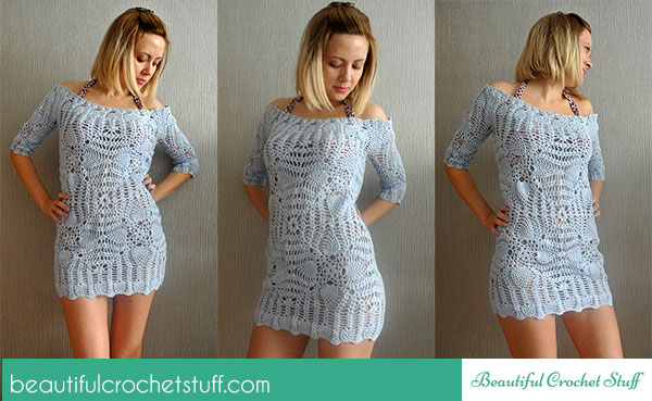 40 Beautiful Crochet Swim Cover Up Patterns For Any Skill Level Beauteous Crochet Swimsuit Cover Up Pattern