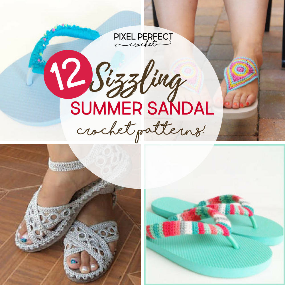 7 Sizzling Summer Crochet Sandal Patterns