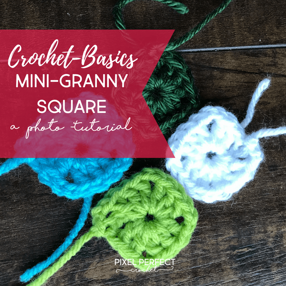 The 60 Second Granny Mini Granny Square Crochet Tutorial Pixel