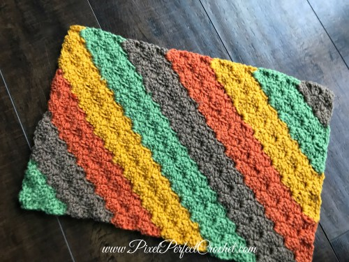 Fall Stripes Crochet Graph