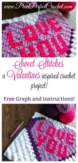 Celebrate this Valentines Day with the perfect handcrafted, and love filled Valentine! This corner to corner (C2C) crochet pillow project is quick, easy, and sure to be loved for many years to come! #crochet #valentines #valentinesdaygift #valentinesday #cornertocorner #crochetlove #crochetpillow #valentinescrochet #crochetlove